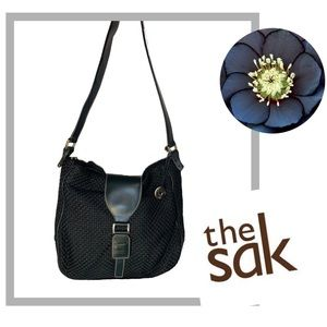 THE SAK Black Weave Style Shoulder Bag